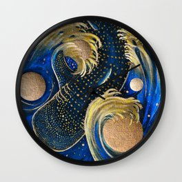 Celestial Whale Shark Wall Clock