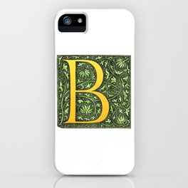 Beautiful letter 'B' vintage monogram letter iPhone Case