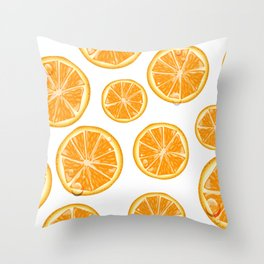 Orange Slices Throw Pillow