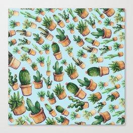 cactus wave Canvas Print