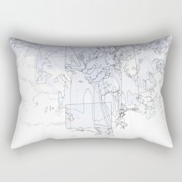 Receding Skylines Rectangular Pillow