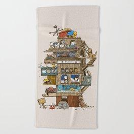 The Dog House Beach Towel