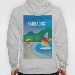 Barbados - Skyline Illustration by Loose Petals Hoody