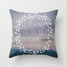 II. Nothing Gold Can Stay Throw Pillow