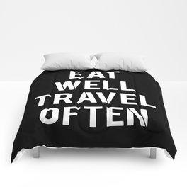 eat & travel Comforters