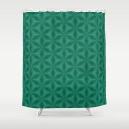 Green Stars Shower Curtain