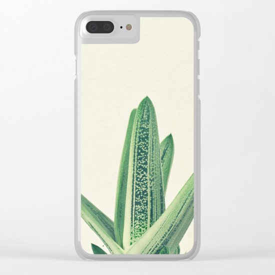 Cactus III Clear iPhone Case