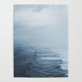 Storms over the Pacific Ocean Poster