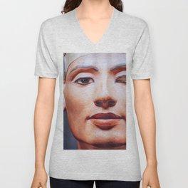 The Face of Nefertiti Unisex V-Neck
