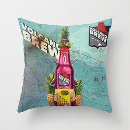 Volcano Brew - I lava you! Throw Pillow