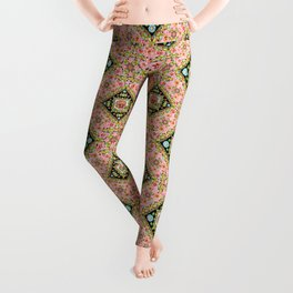 Cottage Pink Pansy Leggings