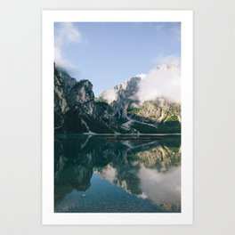 Sunrise at Lago di Braies Art Print