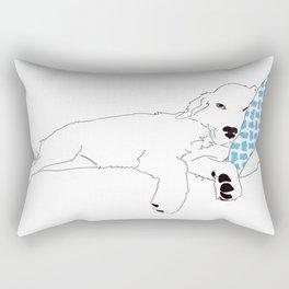 Sleep - Golden Retriever Rectangular Pillow