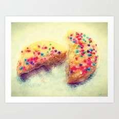 Sprinkle Cookie Art Print