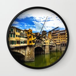 Ponte Vecchio in Firenze / Florence Wall Clock