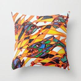 Fishopoly Throw Pillow