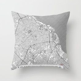 Buenos Aires Map Line Throw Pillow