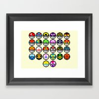 Gotta Catch'Em All Framed Art Print