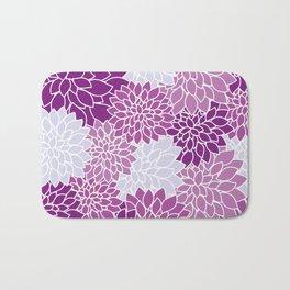 purple flowers pattern Bath Mat