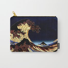 The GREAT Wave Midnight Blue Brown Carry-All Pouch
