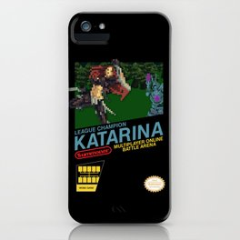 8-bit Champion: Katarina iPhone Case