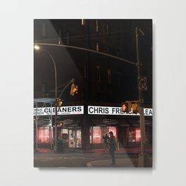 New York City Travel Photo, Wall Art, NYC Night, Minimalist Print, Wall Decor, Street Art, Manhattan, Landscape Photography Metal Print