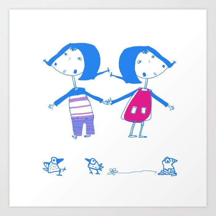 Emma and Luvi Art Print
