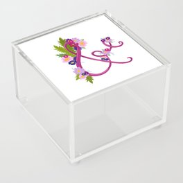 Floral Ampersand Acrylic Box