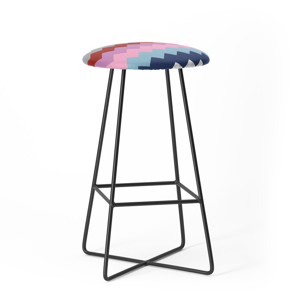 Map Quilt Bar Stool by projectm