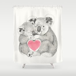 Koalas love hugs Shower Curtain