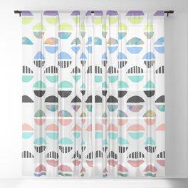 Varicoloured Wedge-Kisses Sheer Curtain