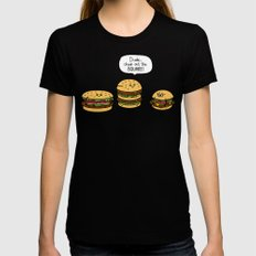 Burger Bullies Womens Fitted Tee Black LARGE