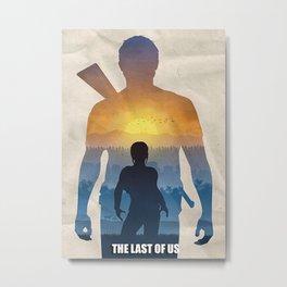 The Last of Us mini art print Metal Print