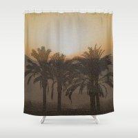 arabic Shower Curtains featuring Arabic by Louise Machado