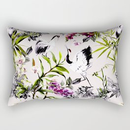 Crane bird in the exotic nature Rectangular Pillow