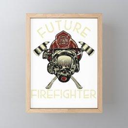 Future Firefighter Framed Mini Art Print