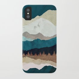 Fall Forest Night iPhone Case