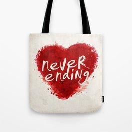 never ending love Tote Bag