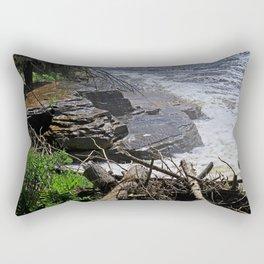 The Edge of Courage Rectangular Pillow