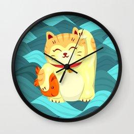 """FortuNEKO - """"Fuzzy"""" Wall Clock"""