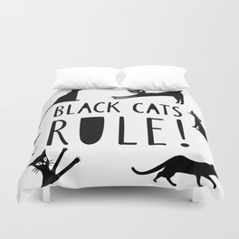 Poster with black cats Duvet Cover