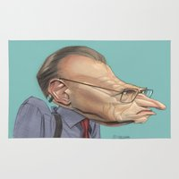 larry Area & Throw Rugs featuring Larry King by Patrick Dea