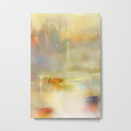 Mist on the Thames Metal Print
