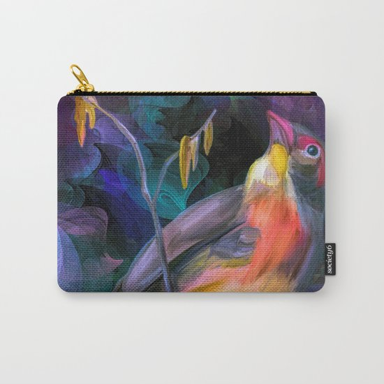 Painting of a Bird Carry-All Pouch