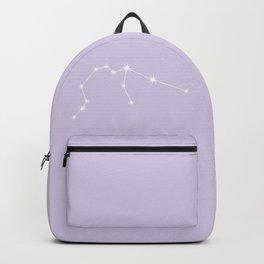 Aquarius Zodiac Constellation - Lavender Backpack