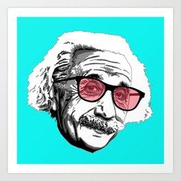 Einstein in summer Art Print