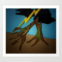The Hands-Down Tree Art Print