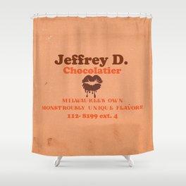 Jeffrey D's Bites! Shower Curtain