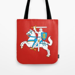 State Flag of Lithuania Knight On Red Tote Bag