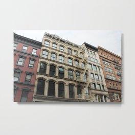 Soho Color Block Buildings Metal Print